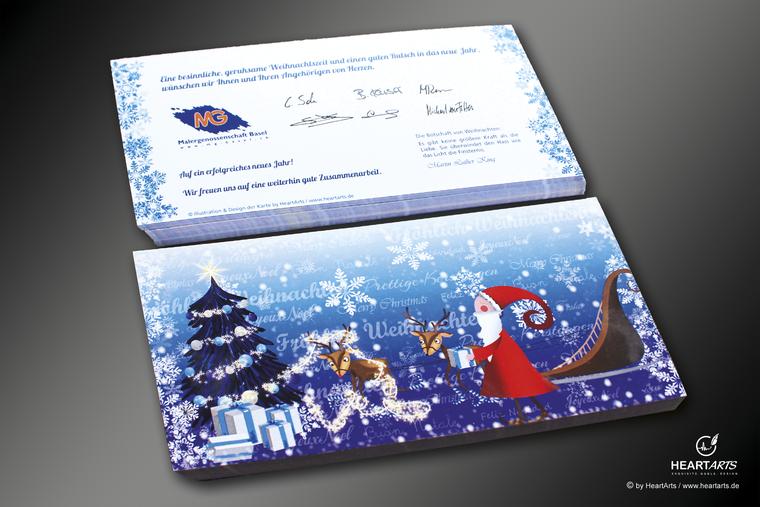 Illustration, Weihnachtskarte